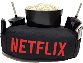 Kit Almofada C/Porta Pipoca Balde +2 Copos Netflix C/Bolso, Presente Dia dos Namorados