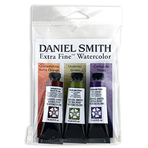 DANIEL SMITH 285250077 Extra Fine Secondary Watercolor Set, 3 Tubes, 15ml