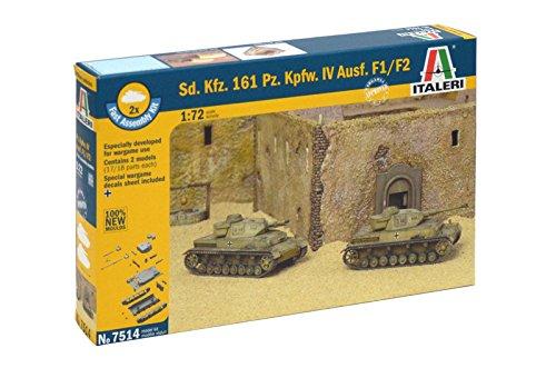 Italeri 510007514 - 1:72 Sonderkraftfahrzeuge 161, Panzerkampfwagen IV F1 Fast Assembly Kit