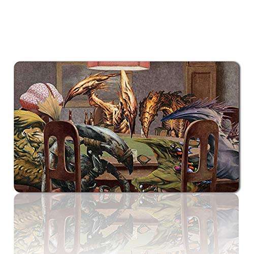 Slivers Playing Poker - Board Game MTG Playmat Table Mat Games Size 60X35 cm Mousepad Play Mat for Yugioh Magic The Gathering