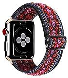 Kraftychix Adjustable Elastic Watch Band Compatible with Apple Watch...