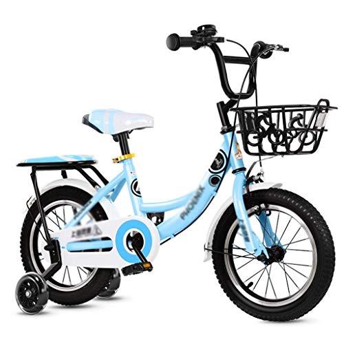 Ygqtbc Bicicletas for niños, bicicletas con ruedas de entrenamiento por 12 14 16 pulgadas de bicicletas, bicicletas de choque pedal Kinder Cochecito antideslizante bicicletas chico de ciudad Buggy