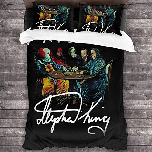 Stephen King Friends - Set di biancheria da letto in poliestere super morbido, 200 x 170 cm, 3 pezzi