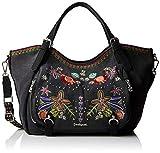 Desigual - Bag Candem Rotterdam Women, Shoppers y bolsos de hombro Mujer, Negro, 15x30x31 cm (B x H T)