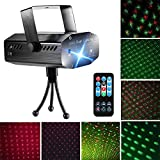 Blingco Party Laser Lights DJ Disco Strobe Light, Mini LED Stage Dance Lights Sound Activated for DJ Disco Christmas Party Home Show Birthday Bar Club Wedding Party Lighting with Remote Control