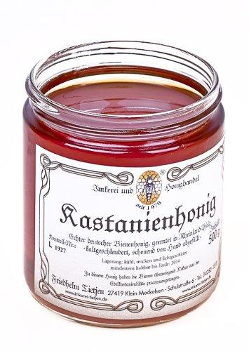 Edel-Kastanienhonig 500g – kräftig aromatisch, naturbelassen (von Imkerei Nordheide) | Deutscher Honig vom Imker