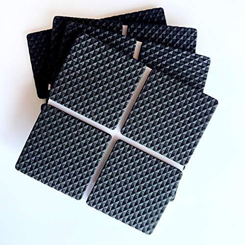 Almohadillas para muebles Almohadilla de fieltro autoadhesiva Almohadillas para muebles de fieltro marrón 4 mm de grosor Protectores de piso antiarañazos para mantener (Cuadrado 40MM 16PCS Negro)