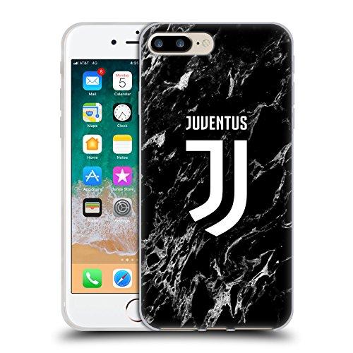 Head Case Designs Offizielle Juventus Football Club Schwarz Marmor Soft Gel Handyhülle Hülle Huelle kompatibel mit Apple iPhone 7 Plus/iPhone 8 Plus