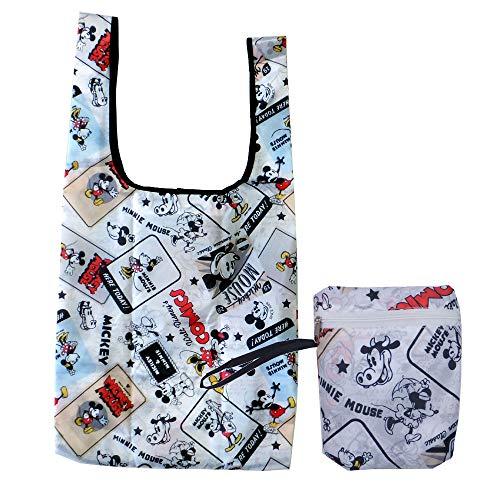 エコバッグ 27097-99(97/ミッキーミニー) キャラクター Disney ディズニー 収納 お買い物 ショッピング コンパクト BAG バッグ