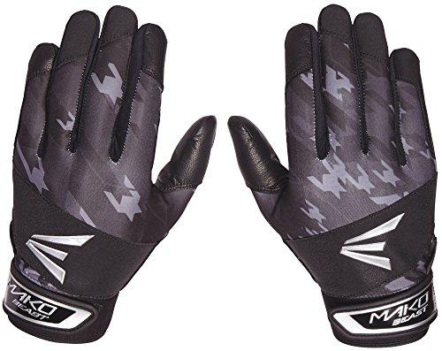 Easton Youth Mako Beast Batting Gloves (Black/Black, S)