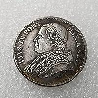 絶妙なコインアンティーク工芸品1870年イタリアのシルバーダラー記念コイン