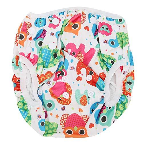 LFLF Unisex-babywindel XL-Baby-schwimmenwindel-Cartoon-Blumenmuster Waschbar Wasserdicht