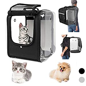 YUDODO Pet Cat Backpack Carrier Airline Approved Carriers Breathable Foldable Pet Dog Cat Backpack Big Space Capsule Cat Backpack for Traveling