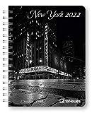 Agenda settimanale 2022 New York, 12 mesi, 15,6 x 21,6 cm, spiralata: Diary