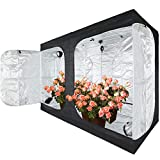 JT Jupetory Grow Tent 96'x48'x80' 8x4 2x2 4x4 4x2 Mylar Hydroponic Growing Tent with Removable Floor Tray for Indoor Plant Growing Garden Growing Dark Room(96x48x80 INCH)