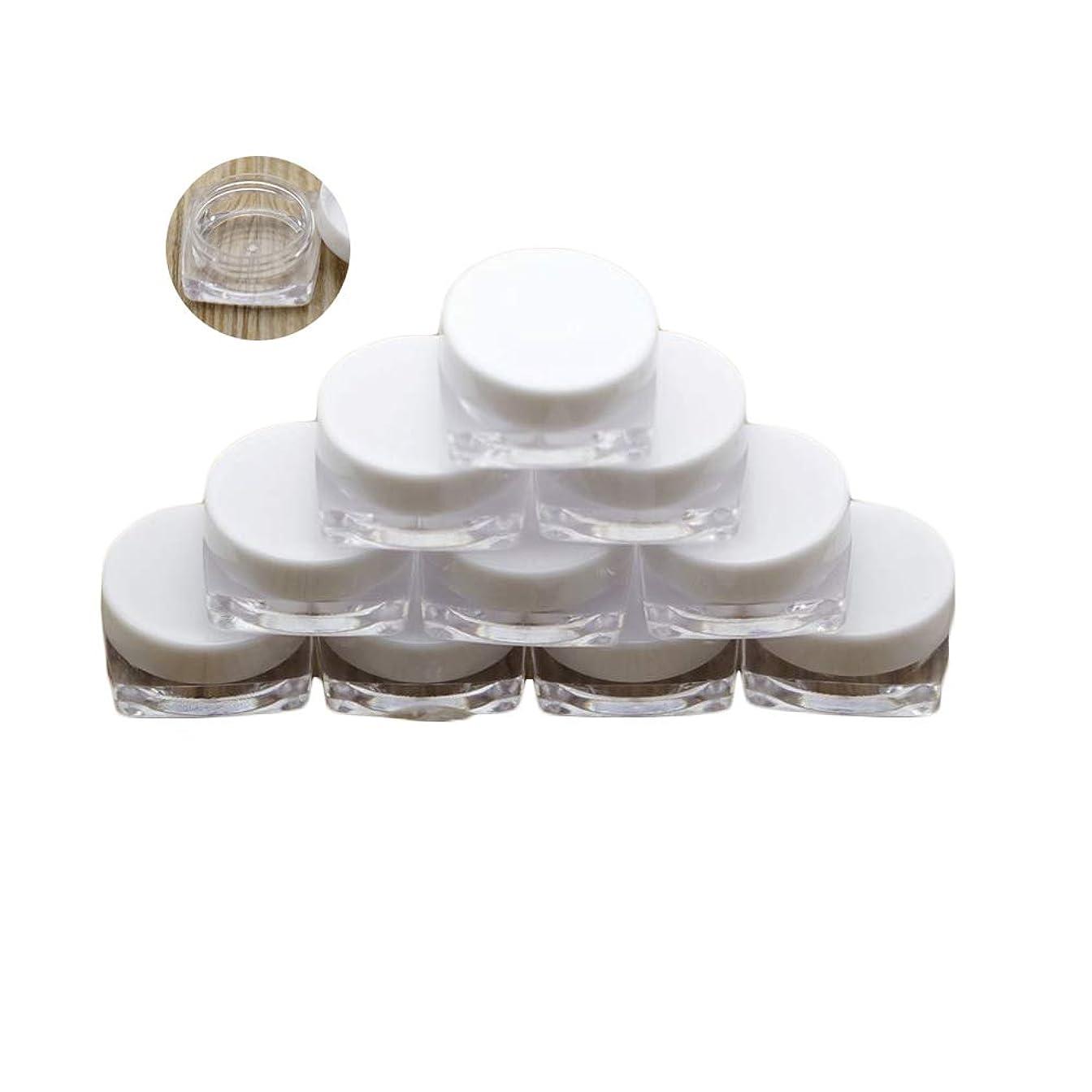 鳴らすライブ成分NUOMI 20個 3g 小分け容器 小分けボトル ミニ クリームケース ジャーポット 化粧品 詰め替えボトル クリア パウダーボックス アイシャドウ リップ クリーム 手作り 密封性 携帯用 収納 旅行 ホワイト