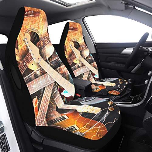 2 piezas Set Car Cover Kids Jazz Rock Cool Guitarra eléctrica para...