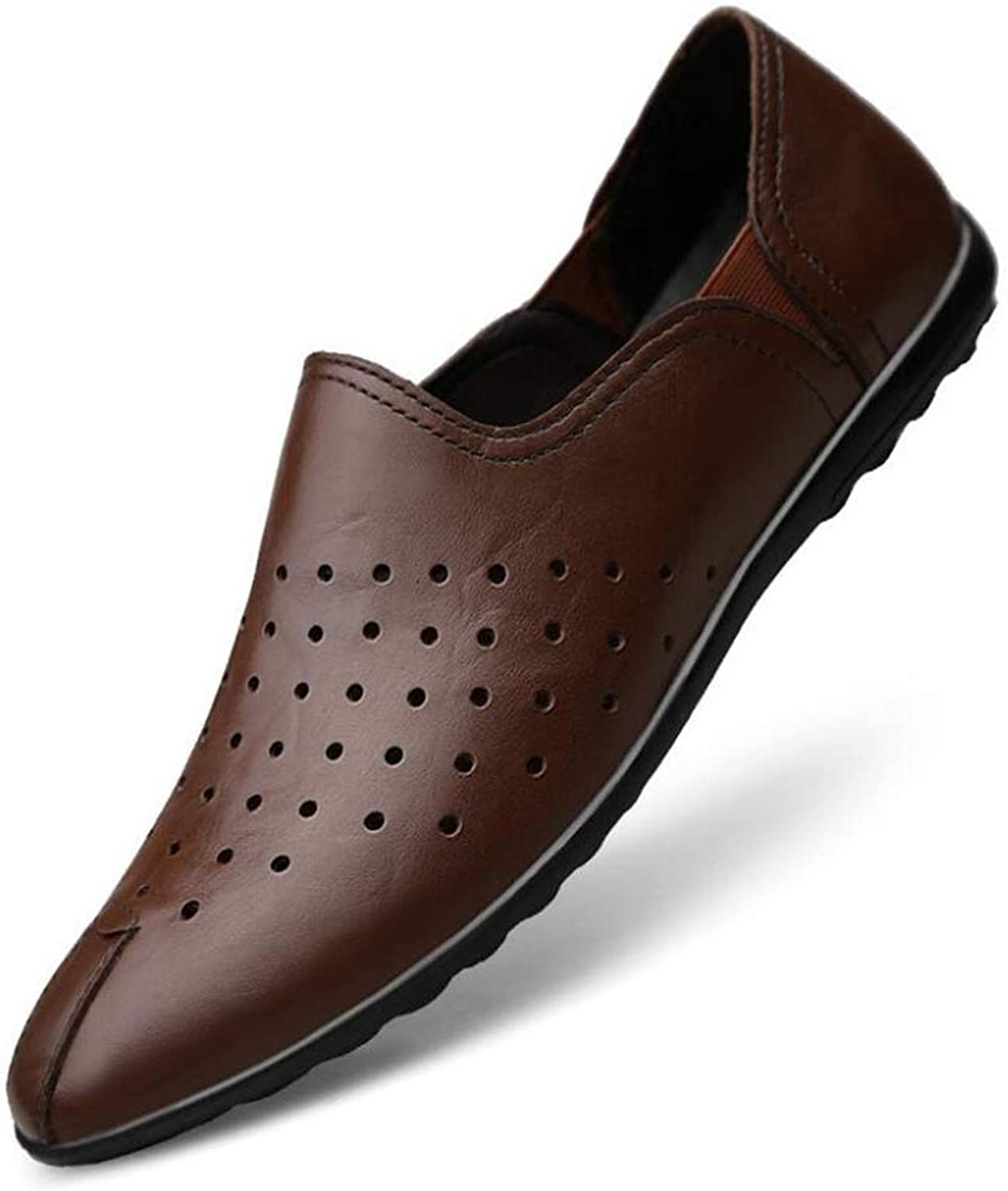 Y-H Men shoes, Soft Sole Comfort Driving shoes,Loafers & Slip-Ons Lazy shoes,Formal Business shoes Cycling shoes,b,44