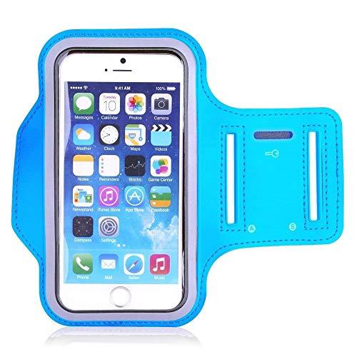 Extérieure bras sac de remise en forme sport téléphone mobile bras bande écran tactile téléphone mobile bras sac commun pour 4-6 pouces téléphone mobile, bleu clair