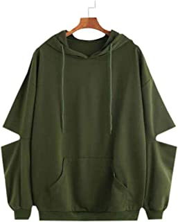 JUNEBERRY 100% Cotton Stylish Hooded Olive Green Sweatshirt for Women/Girls