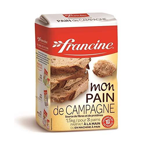 FRANCINE - Farine Pain De Campagne 1.5Kg - Lot De 4