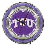 Holland Bar Stool Co. Officially Licensed Texas Christian University Double Neon 15' Clock (TCU)