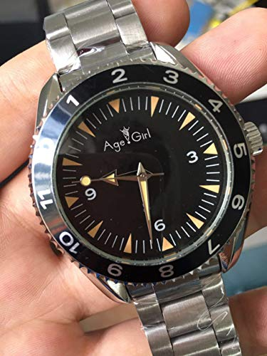 DAGEGIRL Neue automatische mechanische transparente Uhr James Bond SpectreGlas zurück Mens Canvas Stoff Gürtel Chronometer UhrenStahl