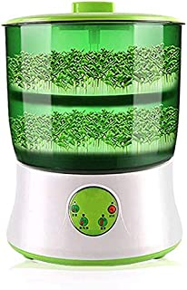 SPENDEAL Bean Sprouts Machine, LED Display Time Control, Intelligent Automatic Bean Sprouts Maker, 2 Layers Function Large...