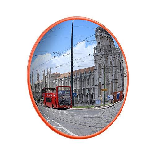 BPT Espejo convexo de tráfico interior exterior de 130 ° gran angular panorámico redondo, espejo de seguridad para la seguridad vial y la tienda de seguridad
