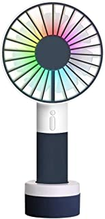 Table Fan Mini Handheld Fan Color Light Sports Portable Usb Fan Desk Table Fan with Standing Base 3 Speed Desktop Fan