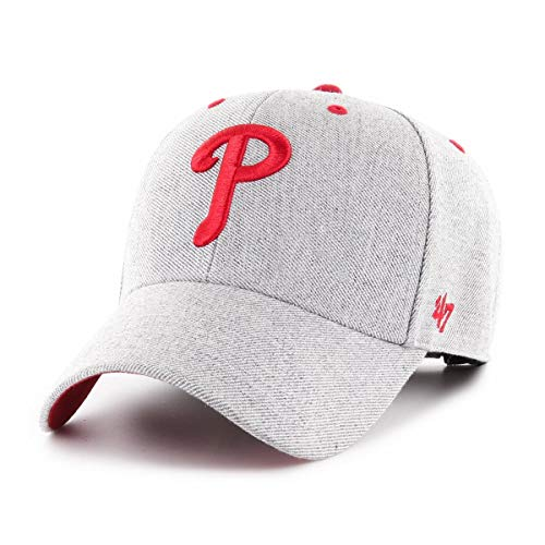 47 Brand Philadelphia Phillies Adjustable Cap MVP MLB Storm Cloud Charcoal - One-Size