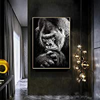 """オランゴリラの部屋の装飾キャンバスの壁の芸術の写真リビングルームの寝室の壁の装飾ヴィンテージ自由奔放に生きる壁の装飾70x100cm28""""x40""""(フレームなし)"""