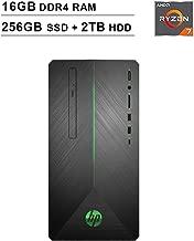 2019 Newest HP Pavilion 690 Gaming Desktop (AMD 8-Core Ryzen 7 2700 3.2GHz up to 4.1 GHz, 16GB DDR4 RAM, 256GB SSD (Boot) + 2TB HDD, AMD Radeon RX 580 4GB, WiFi, Bluetooth, DVD, Windows 10 Home)
