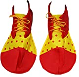 Party Dress Rojo, Amarillo suave de lunares Jumbo Zapatos de payaso para adulto