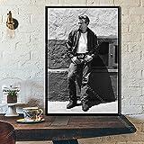 Póster y pintura 60x90cm sin marco James Dean Smoke Cigarettes Movie Star
