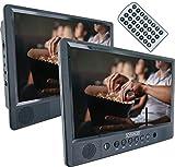 SCHWAIGER -716474 - Lettore DVD/CD portatile|10 pollici schermo|1 telecomando|SD/USB|con supporto|con kit di montaggio in auto