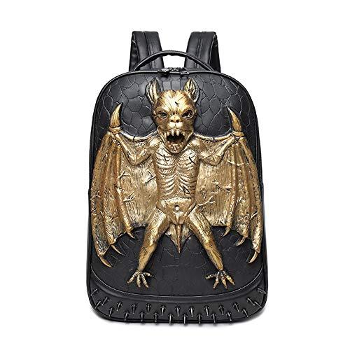MBFAN 3D Batman backpack male pu backpack waterproof bag local gold 24 inch