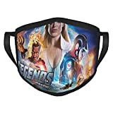 Le-Gends Of To-Mo-Rrow - Máscara facial para adulto para mascarillas unisex reutilizables y lavables, protección bucal ajustable, transpirable, cubierta para fiestas al aire libre, regalo de trabajo