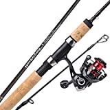 Sougayilang Fishing Rod and Reel Combos,Graphite Blank Rods,Stainless Steel Guides,2 Piece Spinning Rod Travel 500 Size Spinning Fishing Reel.