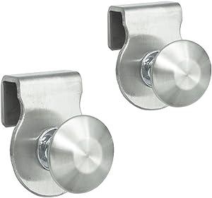 Eforlike 2 Pcs Stainless Steel Bathroom Shower Glass Door Knob Handles