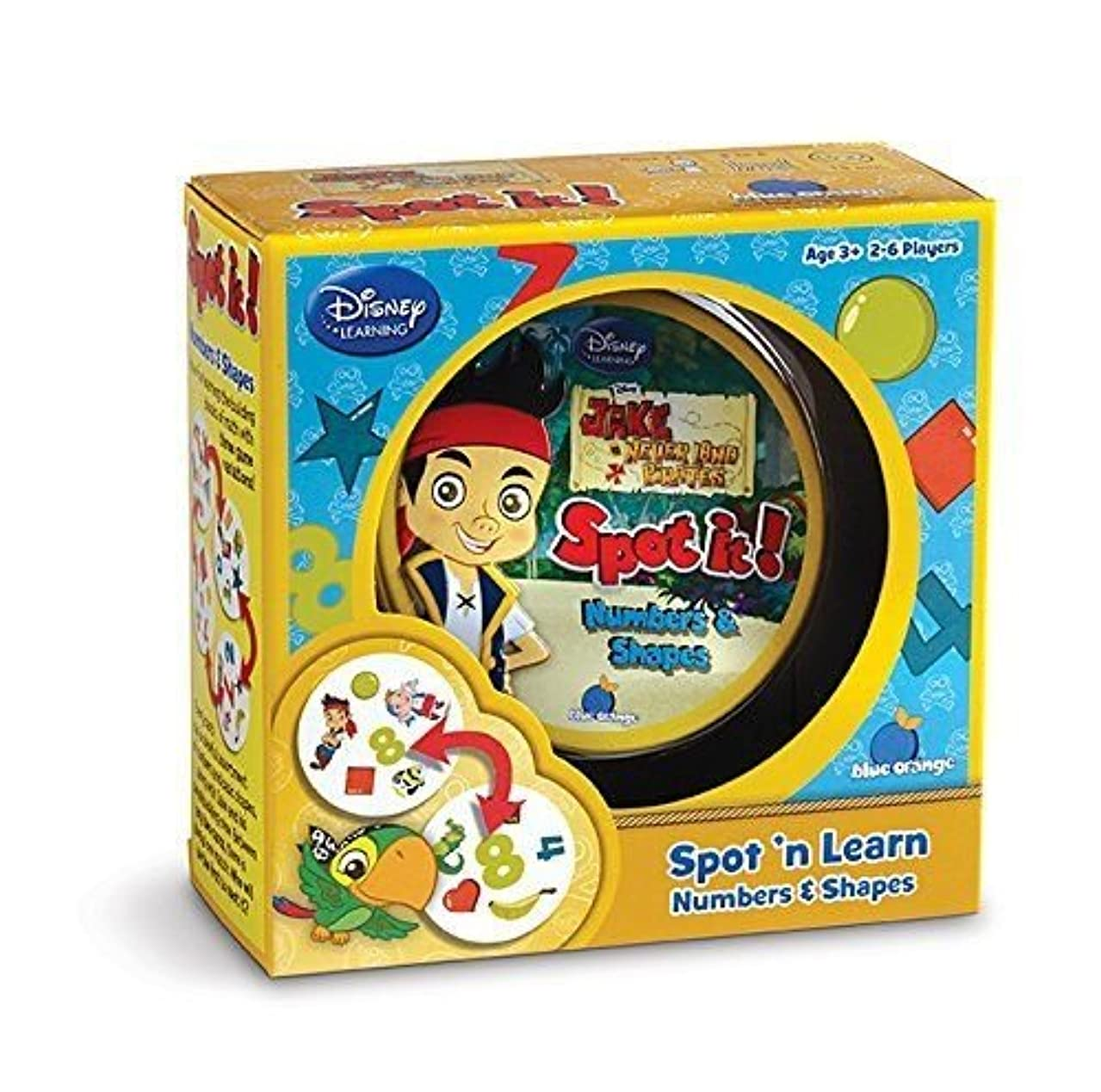 Spot it! Jake and the Never Land Pirates- Numbers and Shapes , New,pin ^G#fbhre-h4 8rdsf-tg1318333