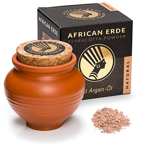 African Erde Terracotta Puder NATURAL - NEU mit Arganöl