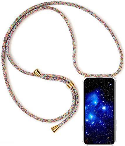 1stfee Compatible con Funda para SamsungGalaxyJ32016/J310/J320 Funda para teléfono móvil con cordón Transparente TPU Diseño de Protección Anti-Shock Cover