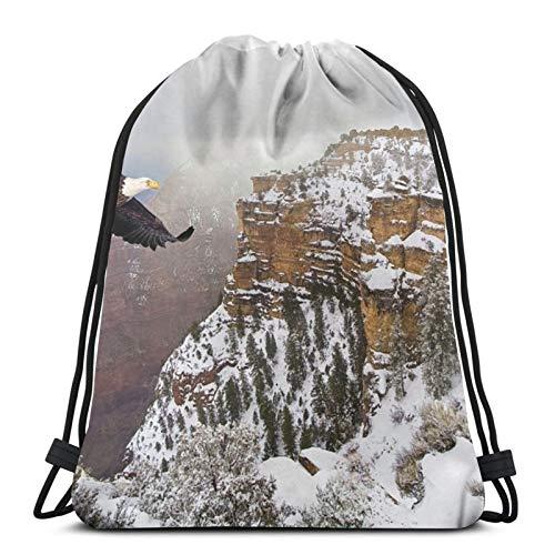 Affordable shop Bald Eagle Volando por encima del Gran Cañón mochila mochila ligera para gimnasio, viajes, yoga, bolsa de hombro para senderismo, natación y playa