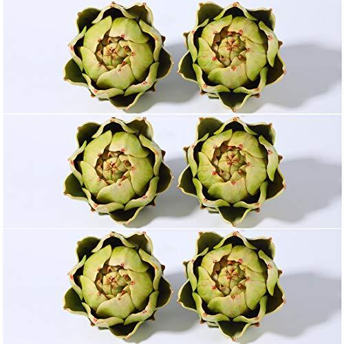 Künstliches Artischocken-Gemüse für Heimdekoration (6 Stück)