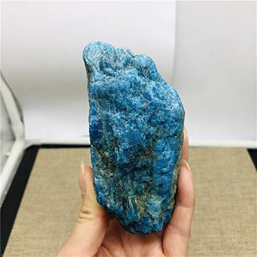ABCBCA 260-300g Natural Crudo Azul apatita espécimen de Pie
