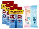 Autan Family Care Spray Bipacco - Insetto repellente e antizanzare - 6 Confezioni da 100 ml più 1 confezione ZIGZAG Pelli Sensibili salviette antipuntura