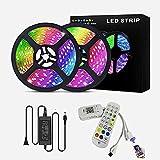 Tiras LED, Luces LED Bluetooth 5050 RGB, Control Remoto y Control de App, Sincronización Musical, 16 Millones de Colores 28 Modos Perfecta Para Decoración TV, Salón Fiestas Dormitorio (Size : 10M)