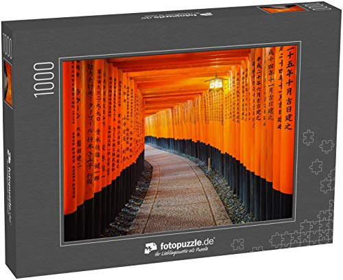 Puzzle 1000 Teile Torii-Tore im Fushimi-Inari-Schrein, Kyoto, Japan - Klassische Puzzle, 1000 / 200 / 2000 Teile, edle Motiv-Schachtel, Fotopuzzle-Kollektion 'Sonstiges'