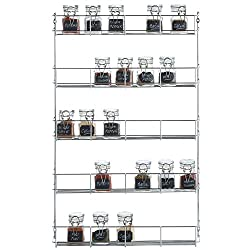 chrome plated spice rack for cabinet door
